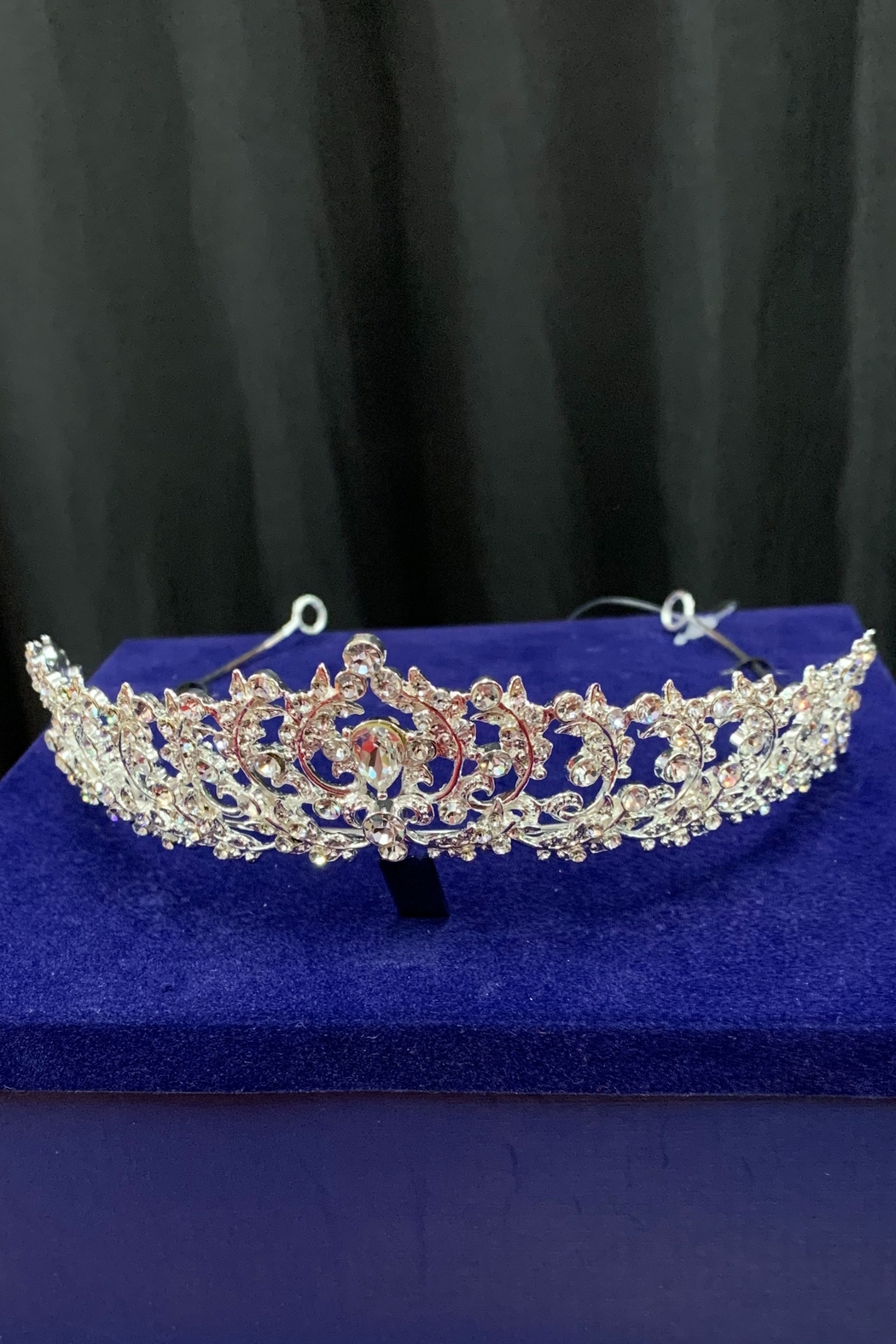 Lucky Collections Clear Crystal Tiara - Front Full Image