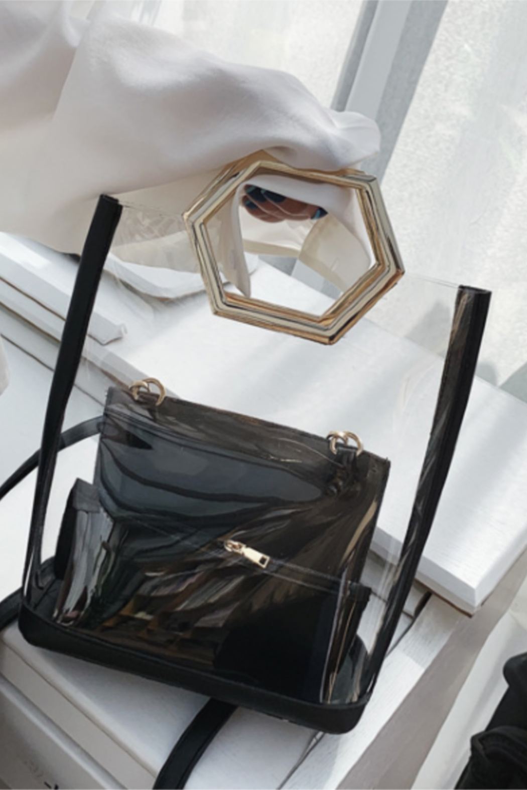 The Birds Nest CLEAR GAMEDAY BAG - HONEYCOMB HANDLE - Main Image