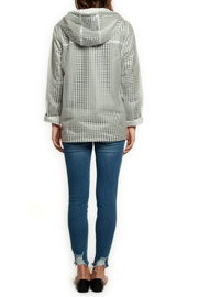 Dex Clear Gingham Lined Raincoat w Hood - Front full body