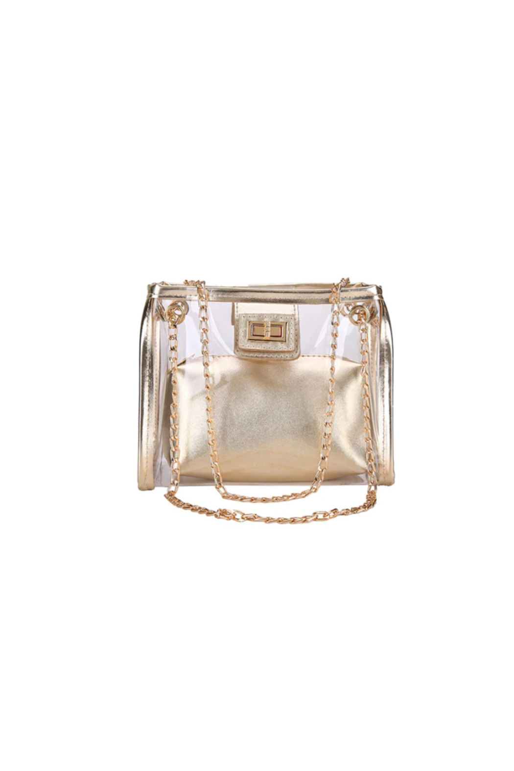 The Birds Nest CLEAR/GOLD GAMEDAY PURSE - Main Image