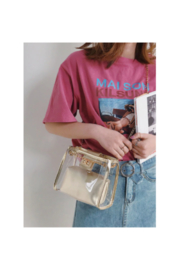 The Birds Nest CLEAR/GOLD GAMEDAY PURSE - Front full body