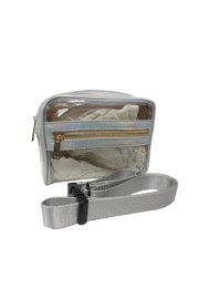 Sondra Roberts Clear Iridescent Trim Belt Bag - Product Mini Image