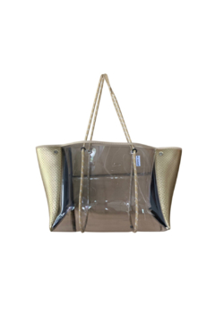 Shoptiques Product: CLEAR PLASTIC TOTE  W/ PERFORATED NEOPRENE SIDES