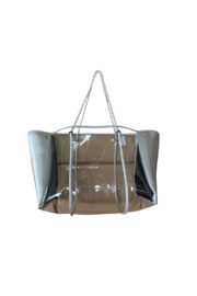 Ah!dorned CLEAR PLASTIC TOTE  W/ PERFORATED NEOPRENE SIDES - Product Mini Image