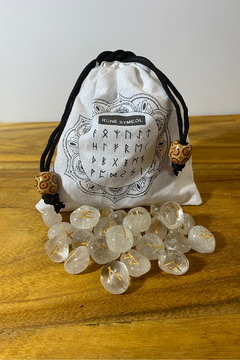 Shoptiques Product: Clear Quartz Rune Set
