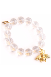 Powerbeads by Jen Clear Quartz with Gold Bee - Product Mini Image