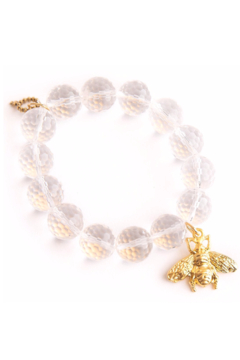 Powerbeads by Jen Clear Quartz with Gold Bee - Alternate List Image