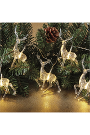 The Birds Nest CLEAR REINDEER STRING LIGHTS - Product Mini Image