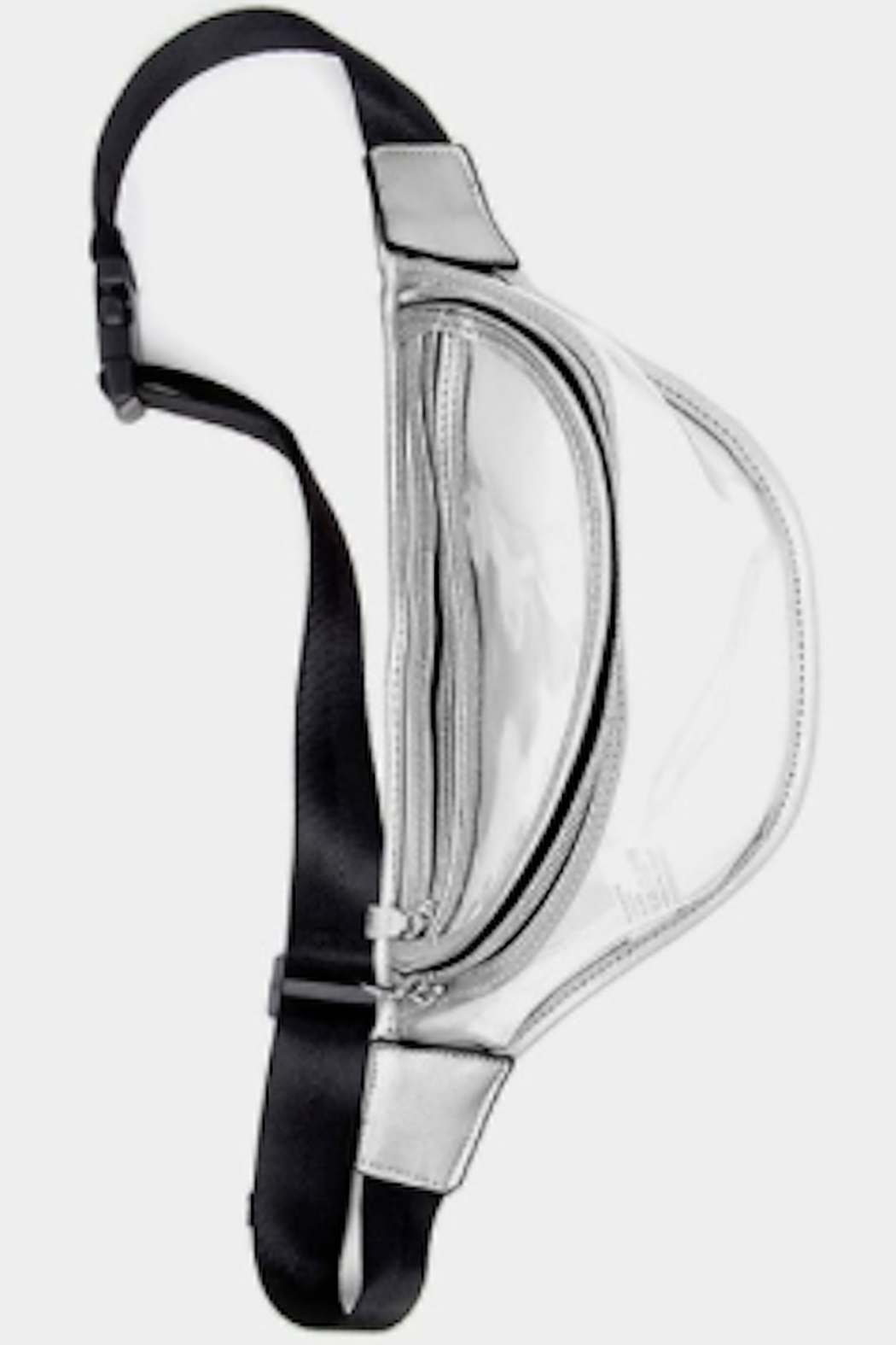Wona Trading Clear Solid Trim Fanny Pack - Front Cropped Image