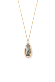 Anarchy Street Clear Stone Tear Pendant Necklace - Product Mini Image