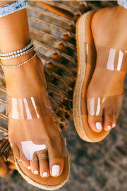 R+D  Clear Strap Espadrille - Product Mini Image