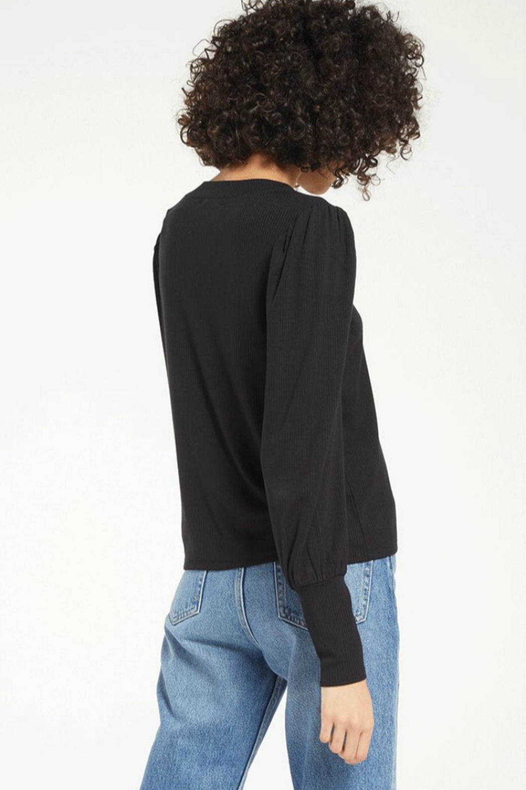 z supply Clemente Puff Sleeve - Side Cropped Image