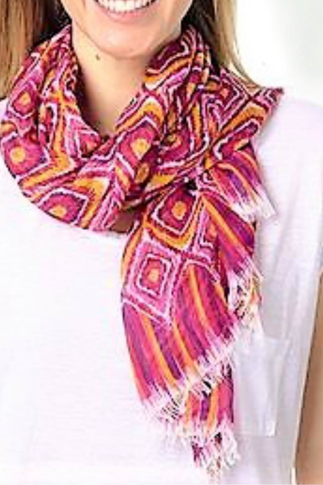 Vera Bradley Clementine Ikat Scarf - Front Cropped Image
