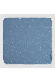 Ettie + H Clemmo Blanket - Blue Skiing - Front cropped