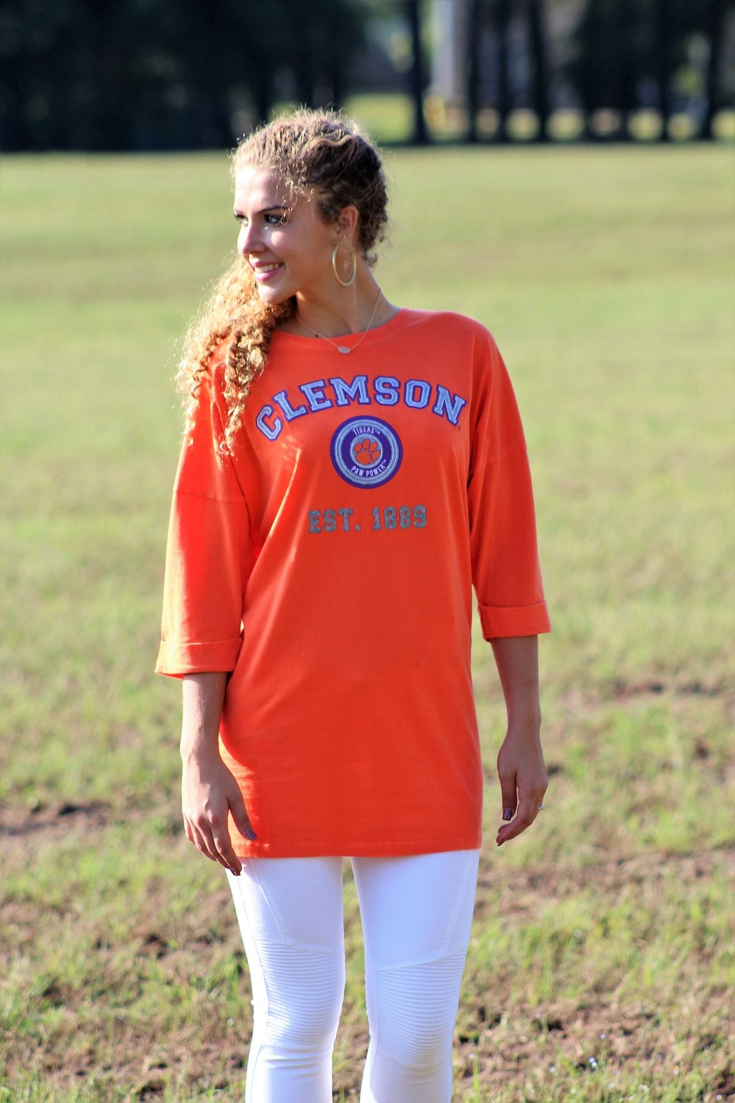Gameday Couture Clemson University Tee Shirt Dress - Front Full Image