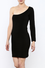 Cleo Black Knit Dress - Front cropped