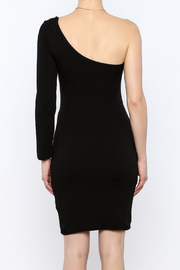 Cleo Black Knit Dress - Back cropped