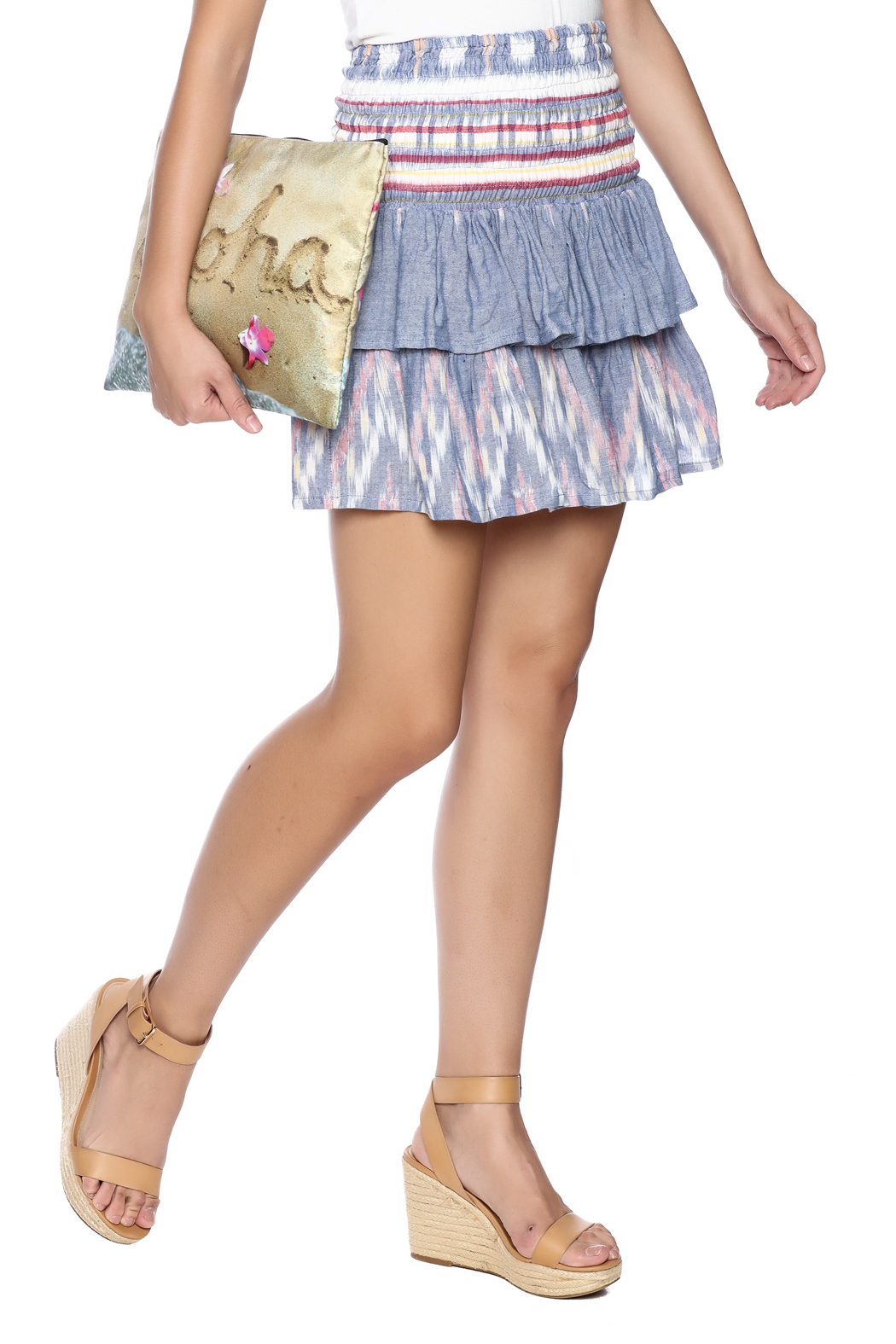 Cleobella Ruffle Mini Skirt from New York City by Bohemian Groove ...