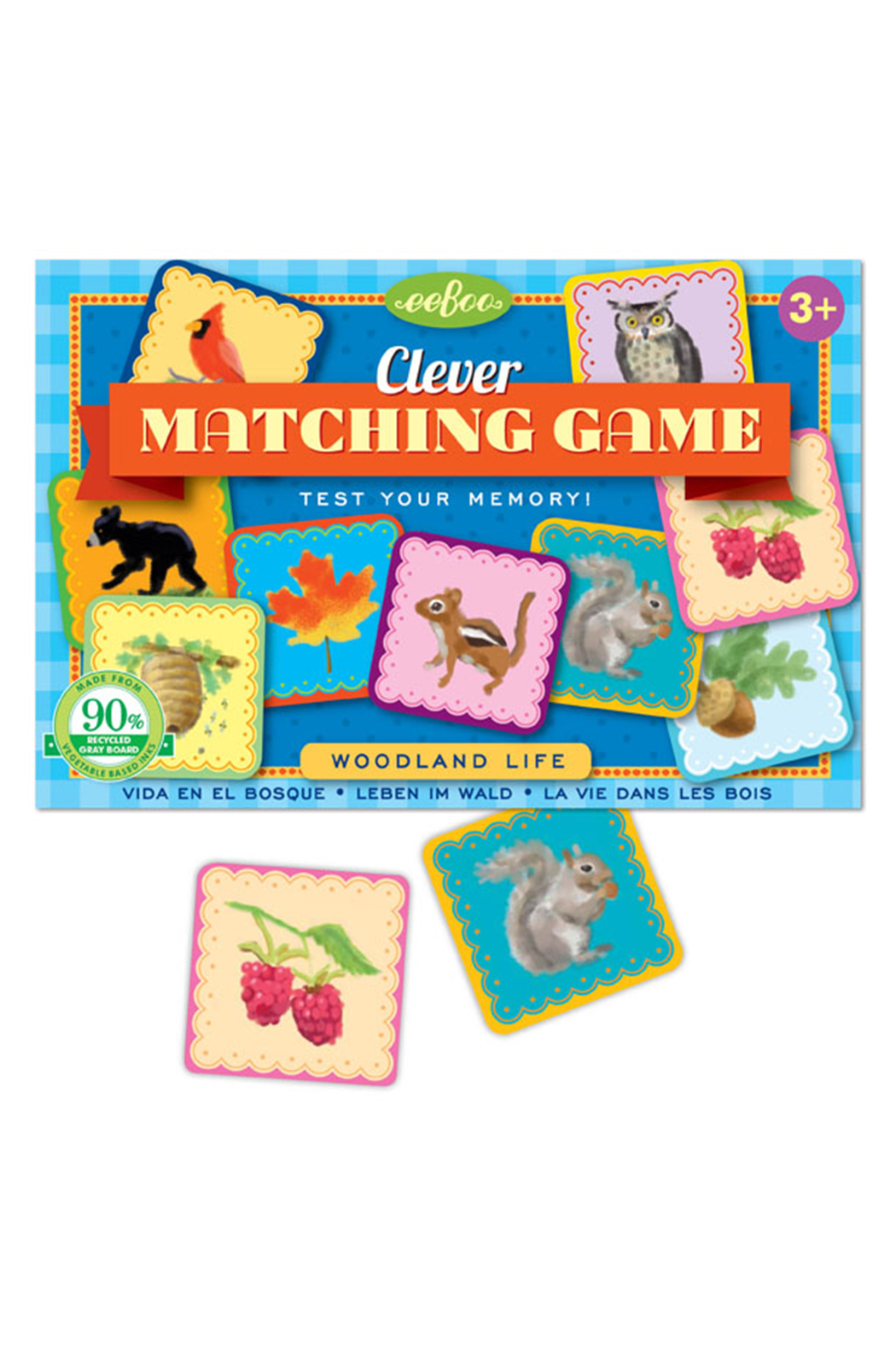Eeboo Clever Matching Game Woodland Life - Front Full Image