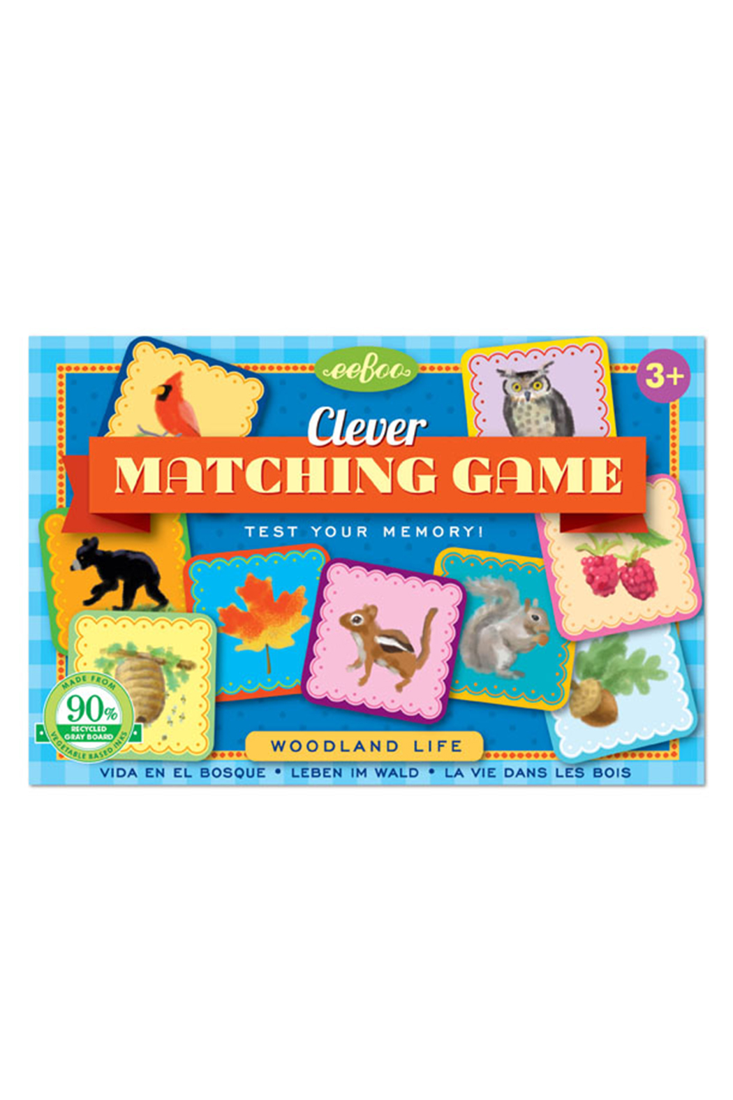 Eeboo Clever Matching Game Woodland Life - Main Image