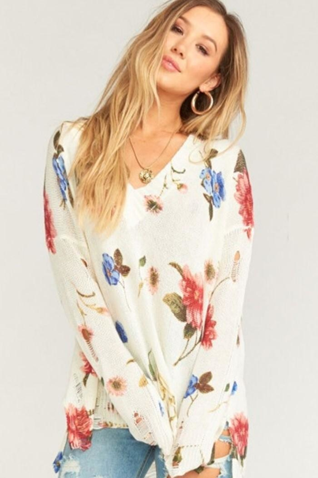 Show Me Your Mumu Cliffside Distressed Sweater - Main Image