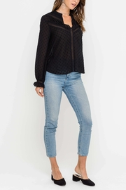 Lush Clip Dot Blouse - Front cropped