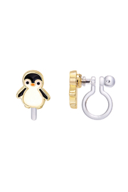 Girl Nation  Clip On Cutie Earrings - Personable Penguin - Product Mini Image