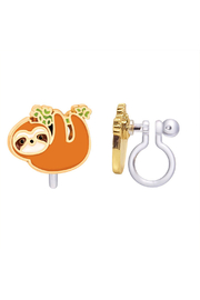 Girl Nation  Clip On Cutie Earrings - Playful Sloth - Product Mini Image