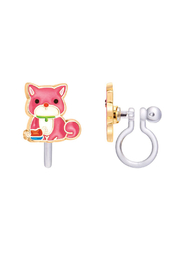 Girl Nation  Clip On Cutie Earrings - Pretty Puppy - Front cropped