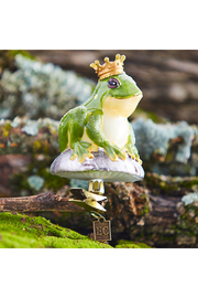 RAZ Imports Clip-On Frog Prince Ornament - Front cropped