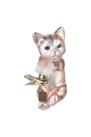 RAZ Imports Clip-On Hang In There Kitty Ornament - Front cropped