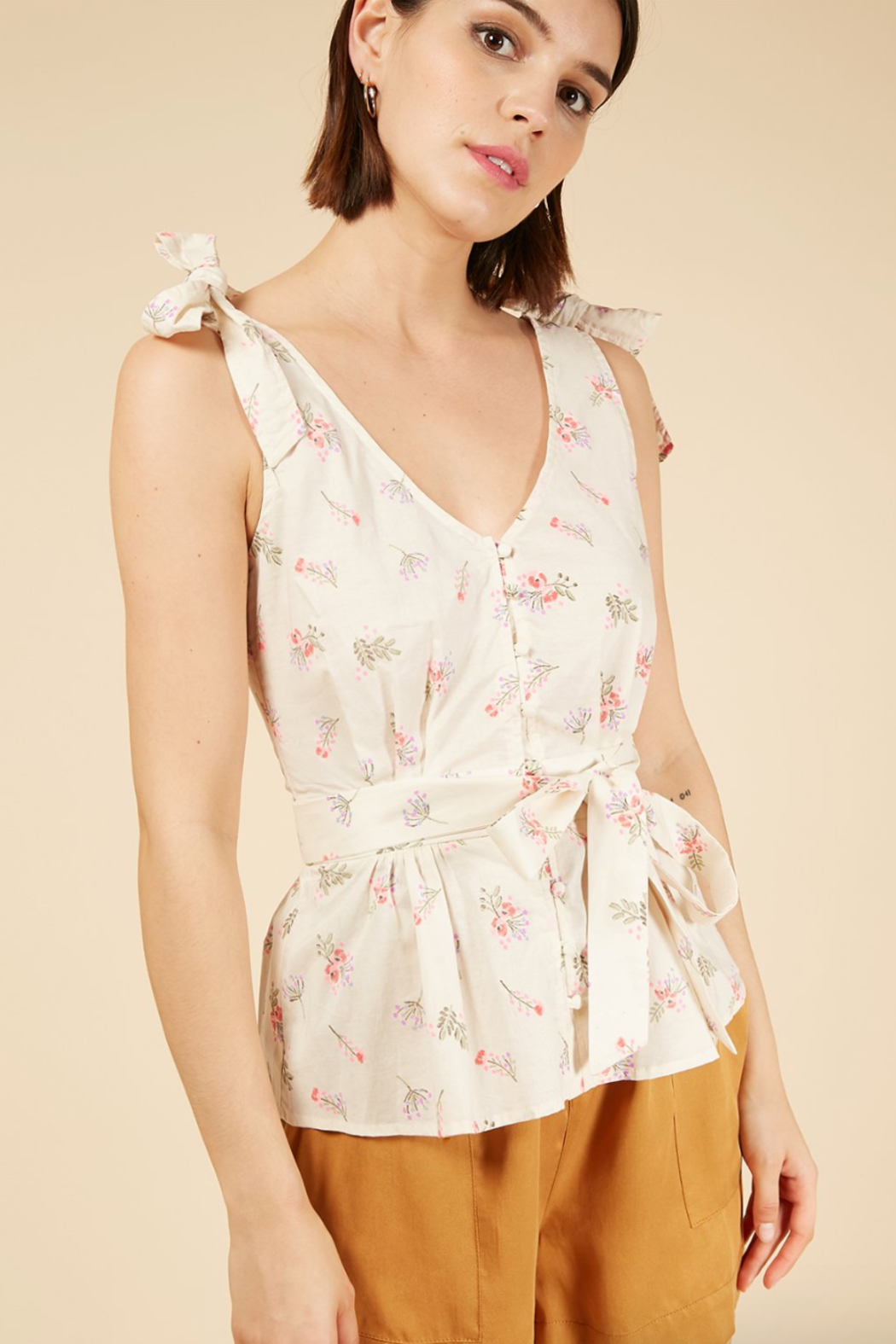 FRNCH Clivia Roses Top - Front Full Image