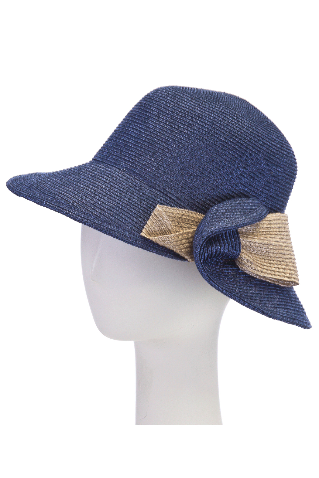 F & M Hat company Cloche contrast with bow - Main Image