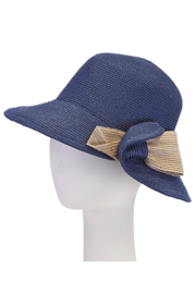 1930s Style Hats | Buy 30s Ladies Hats Cloche contrast with bow $62.00 AT vintagedancer.com