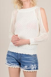 Molly Bracken Clod Shoulder Sweater - Product Mini Image