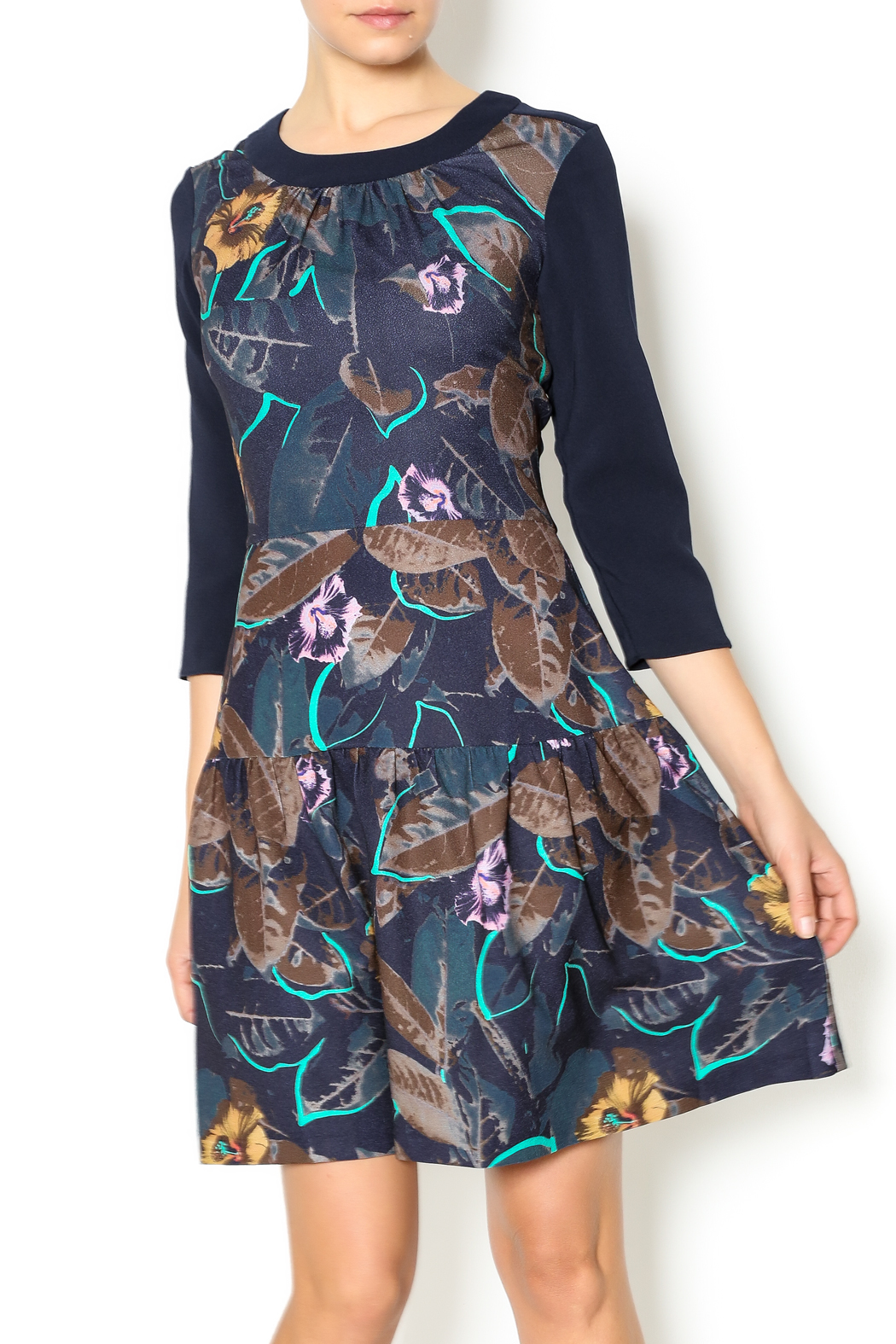 closet london winter floral dress from west loop by tribeca  u2014 shoptiques