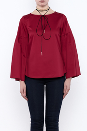 Closet Long Flared Sleeve Blouse - Side cropped