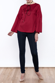 Closet Long Flared Sleeve Blouse - Front full body