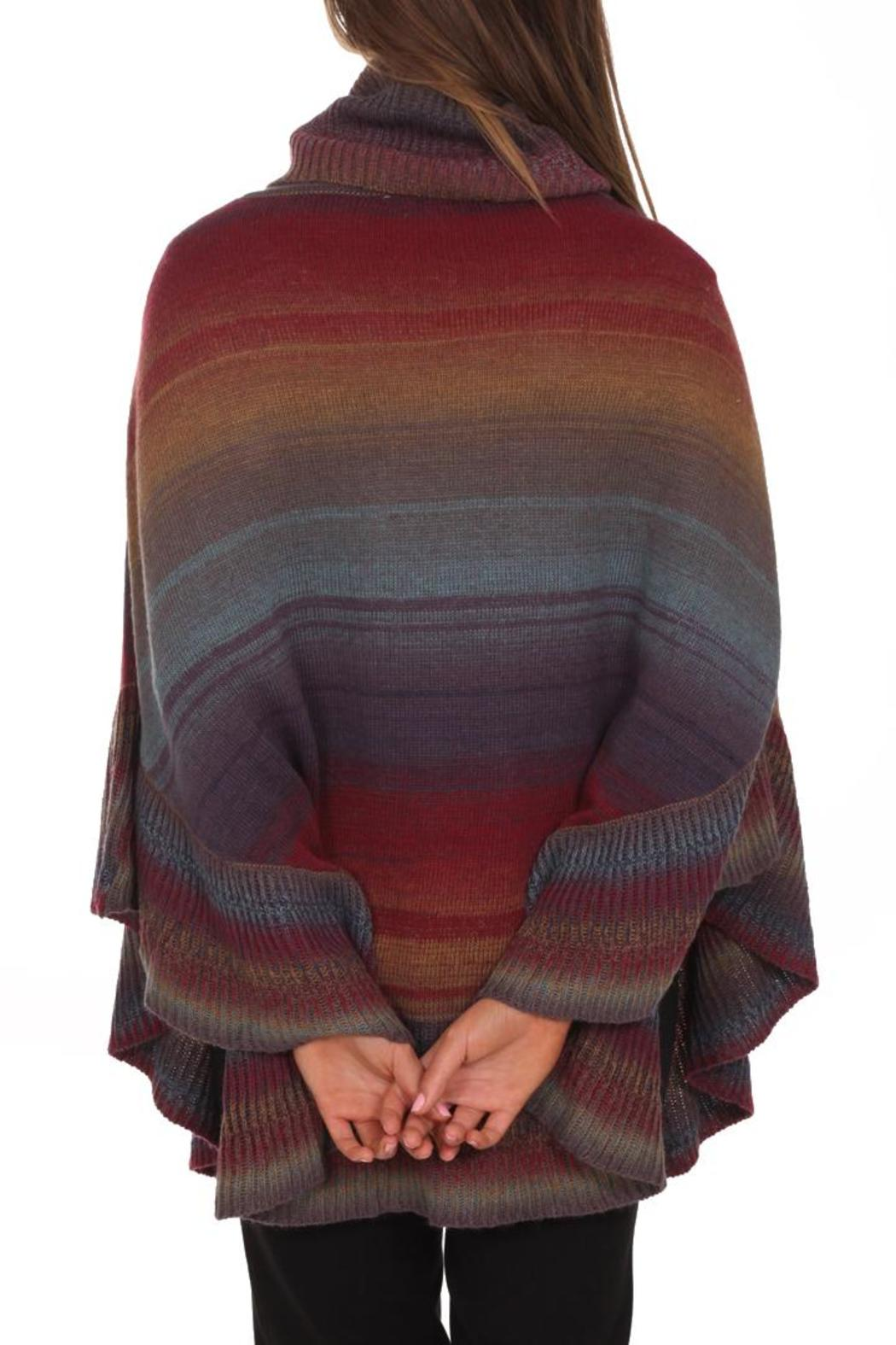 Clotheshead Colorful Cape - Back Cropped Image