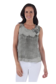 Clotheshead Floral Embossed Shell - Front cropped