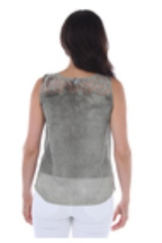 Clotheshead Floral Embossed Shell - Front full body