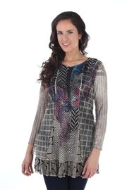 Clotheshead Mixed Media Tunic Top - Product Mini Image