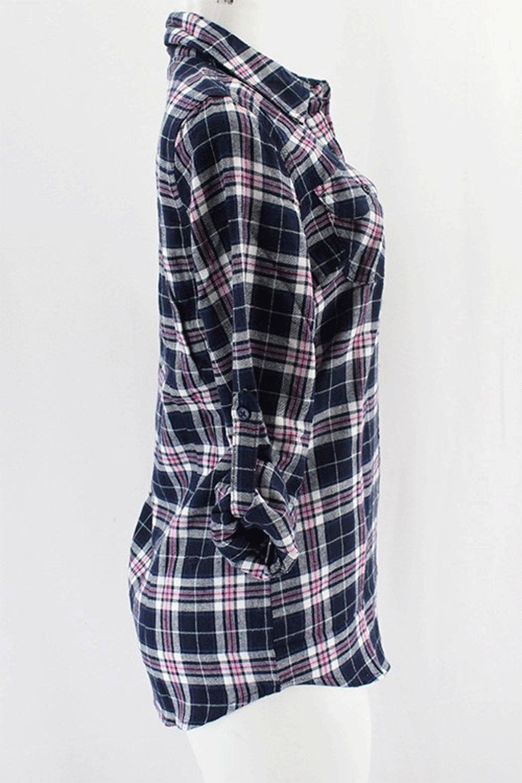 Clothing of America Flannel Plaid Shirt - Front Full Image