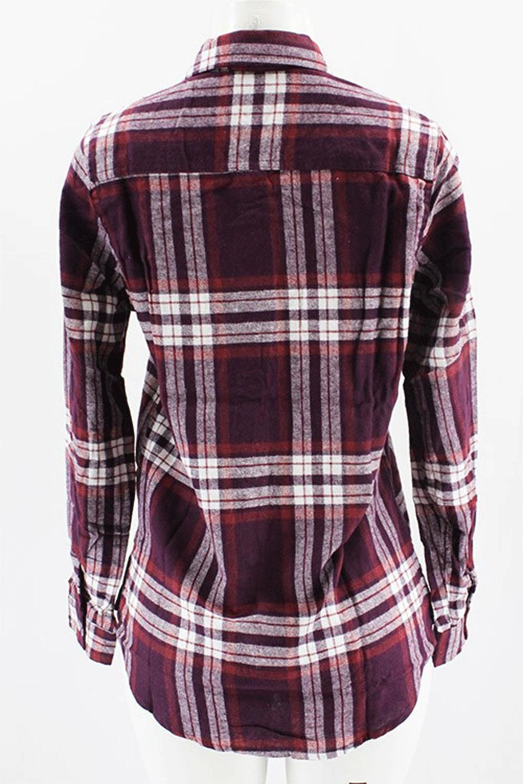 Clothing of America Flannel Plaid Shirt - Side Cropped Image