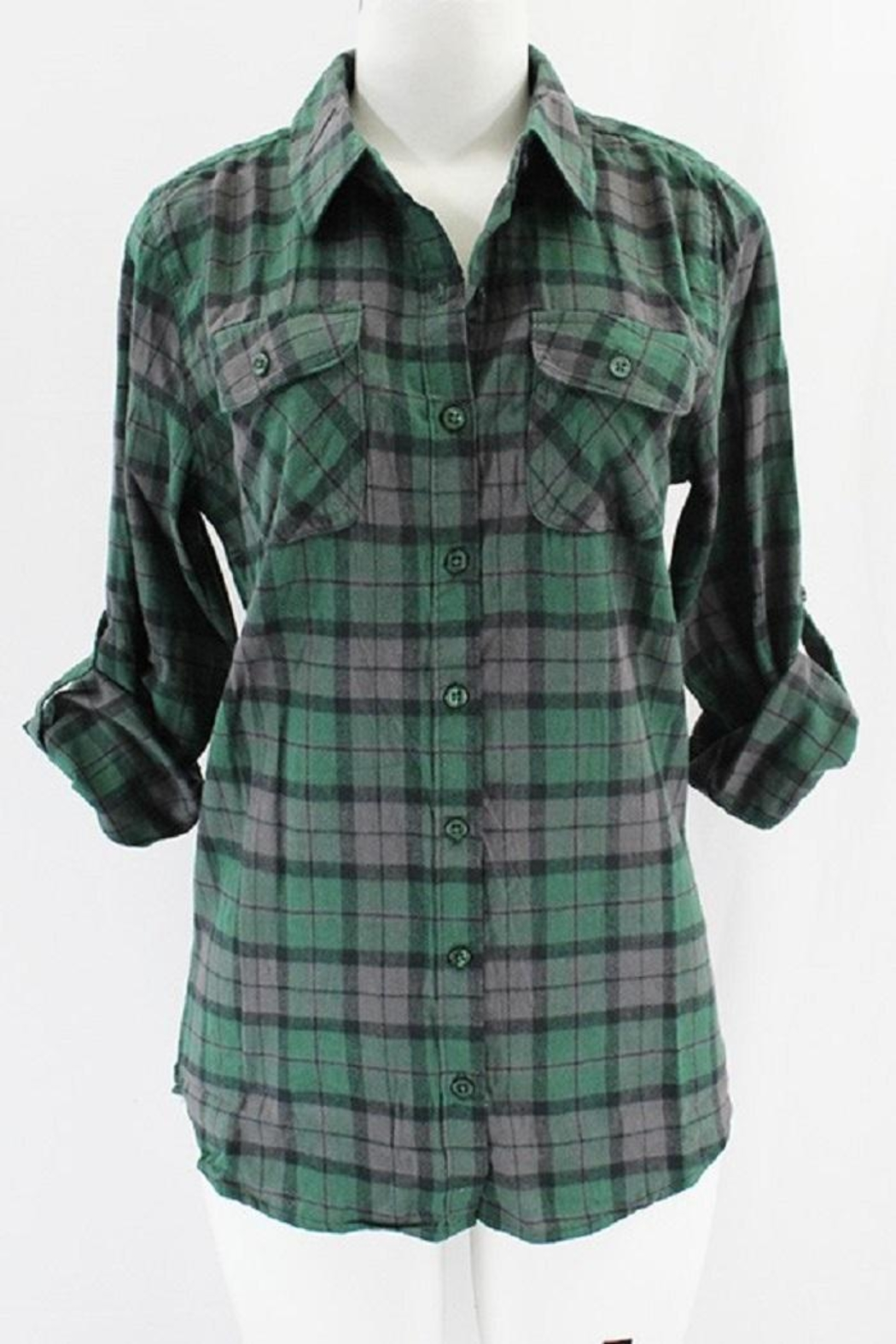 Clothing of America Lightweight Plaid Button-Up - Main Image