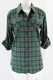 Clothing of America Lightweight Plaid Button-Up - Front cropped