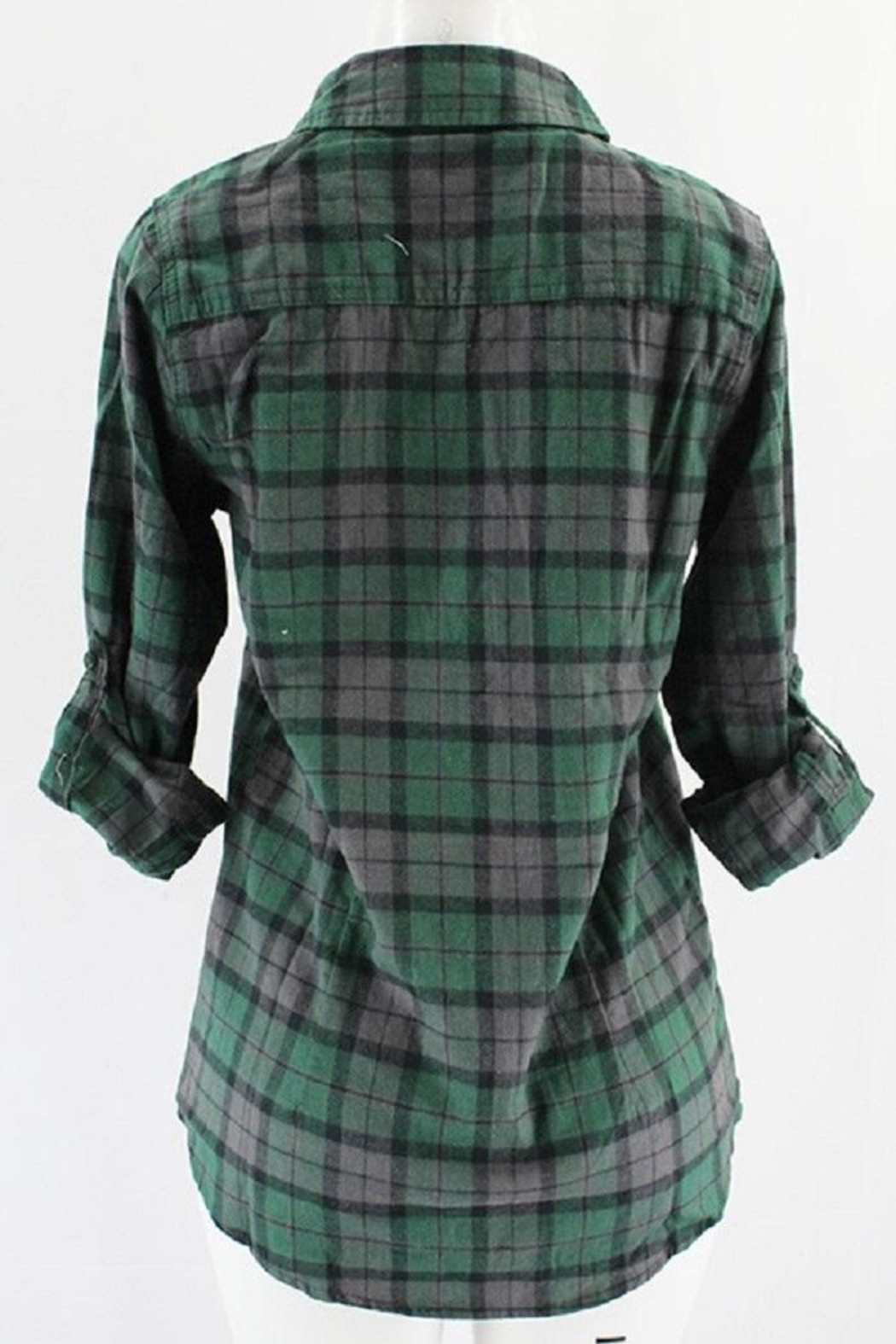 Clothing of America Lightweight Plaid Button-Up - Front Full Image