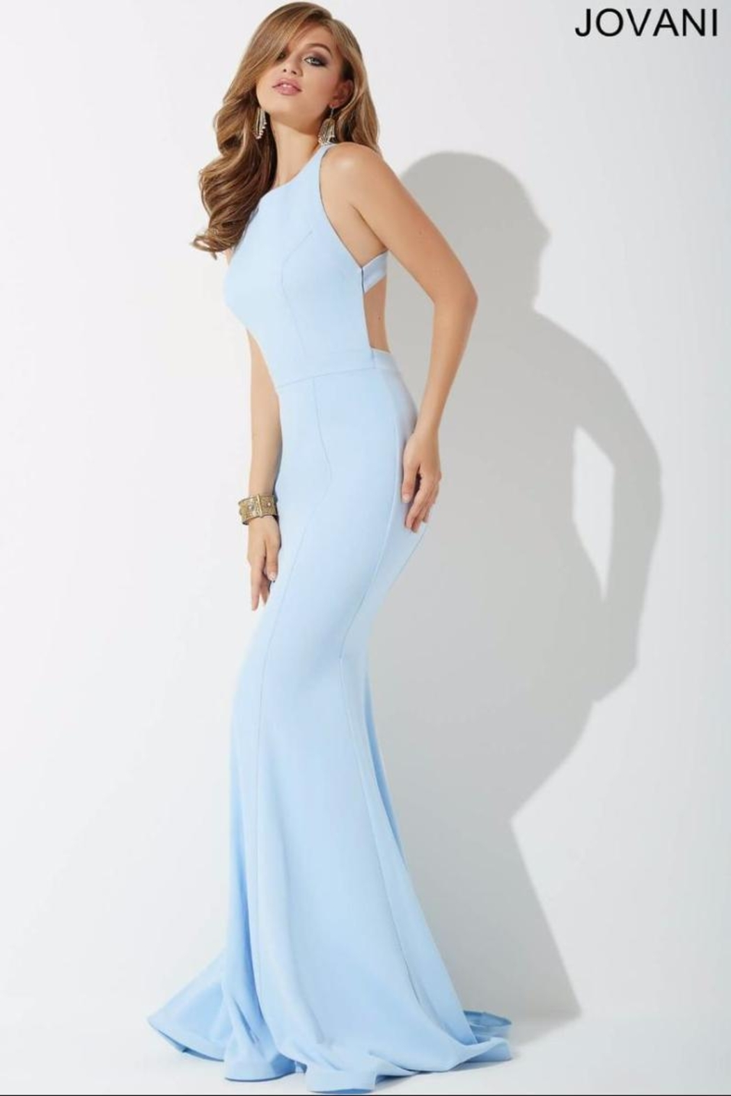 Jovani Cloud Blue Gown - Front Full Image