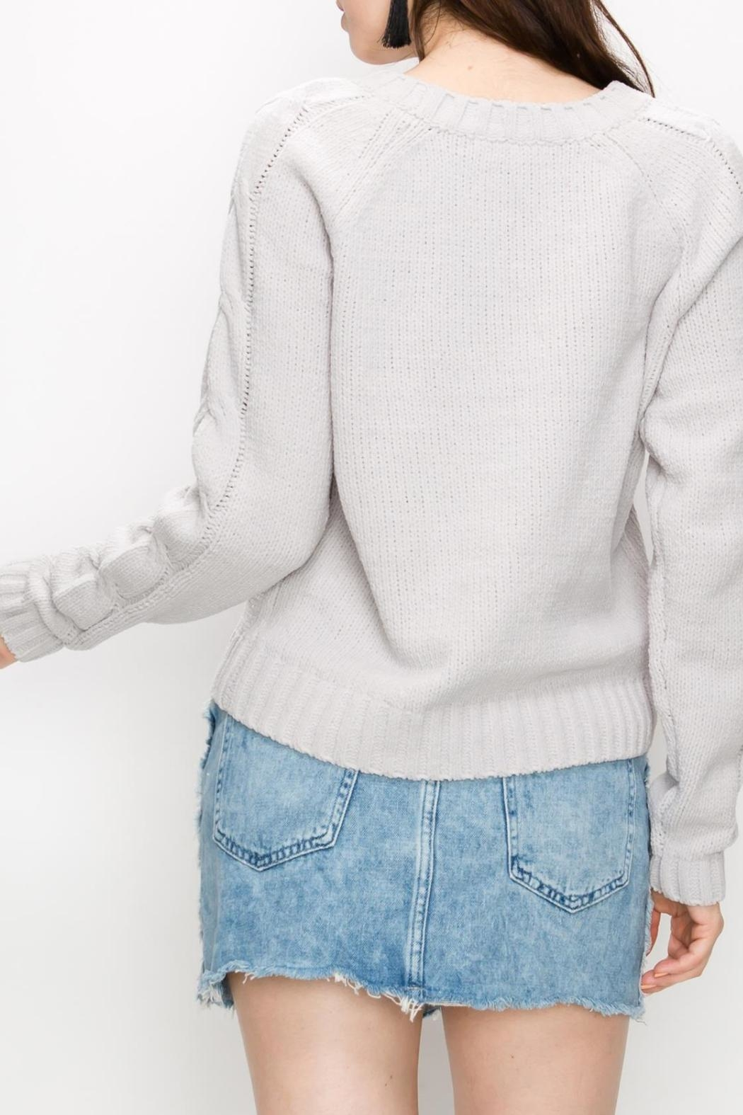 HYVE Cloud Cable-Knit Sweater - Front Full Image
