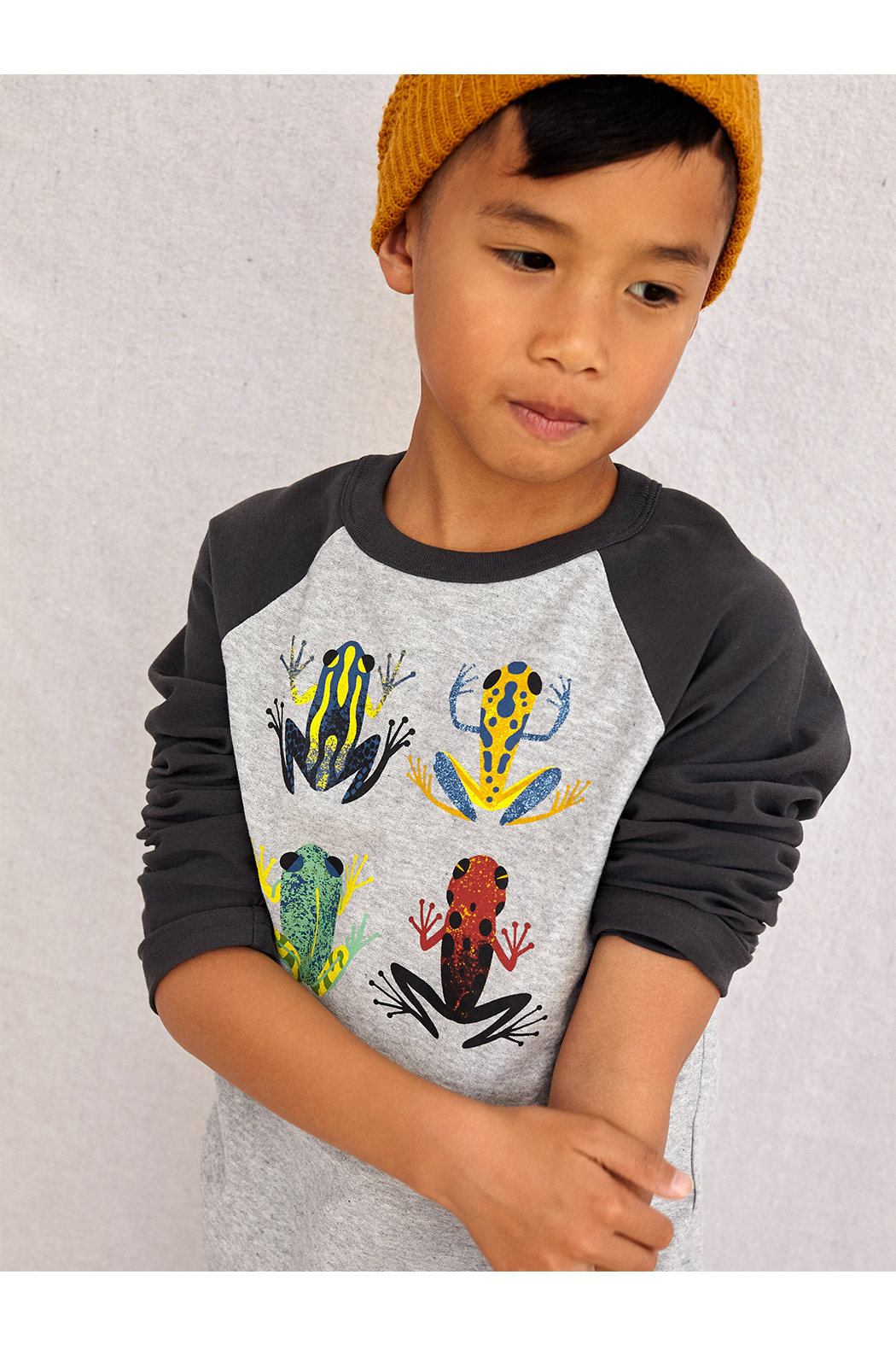Tea Collection Cloud Forest Frogs Raglan Tee - Front Full Image